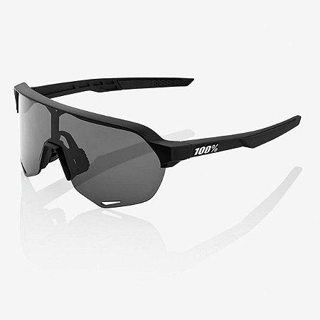 Óculos Ciclismo 100% S2 Preto Fosco Soft Lente Fumê Original