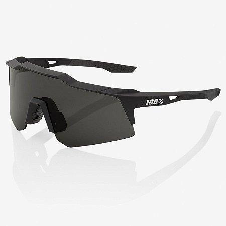 Óculos Ciclismo 100% Speedcraft XS Original Preto Soft Fumê