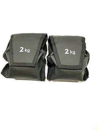 Tornozeleira Caneleira Peso Academia Nylon 2kg - Par