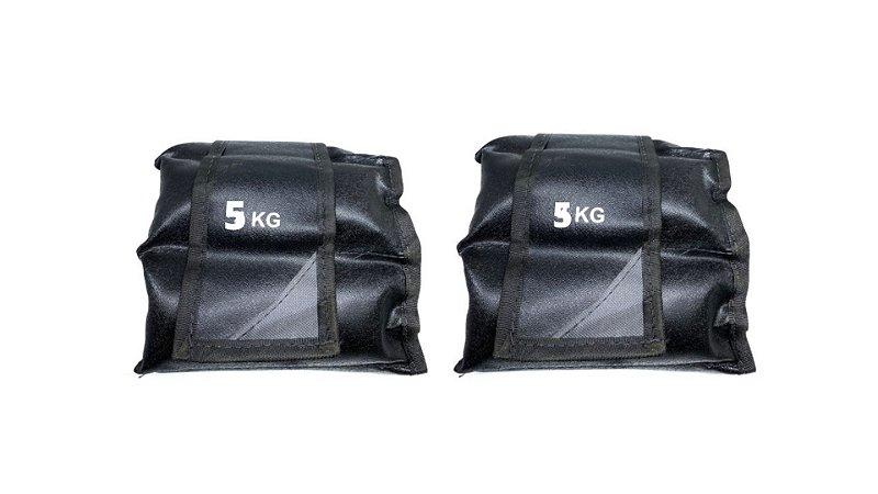 Tornozeleira Caneleira Peso Academia Nylon 5kg -par