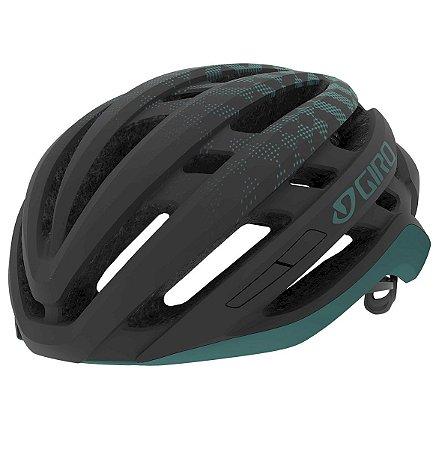 Capacete Ciclismo Giro Agilis Pto/Verde - M (55-59cm)
