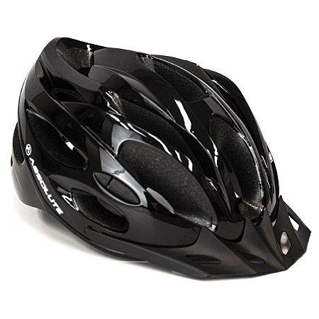 Capacete Ciclismo Absolute Nero Com Sinalizador Tam M 52-58cm