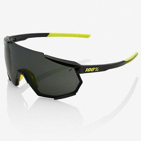 Oculos Ciclismo 100% Racetrap Preto / Amarelo Neon 2 Lentes