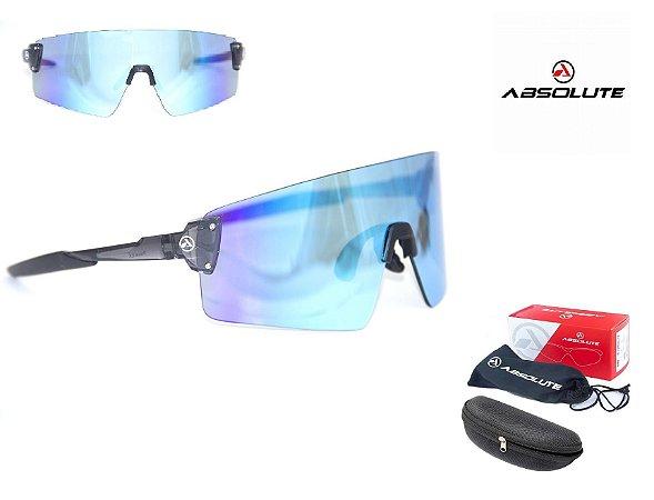 Óculos Ciclismo Bike Absolute Prime Ex Lente Uv400 Azul/Roxo