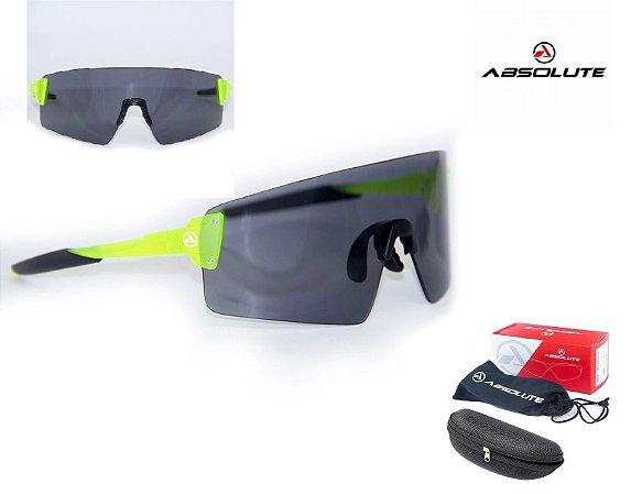 Óculos Ciclismo Bike Absolute Prime Ex LenteUv 400 Neon Fume