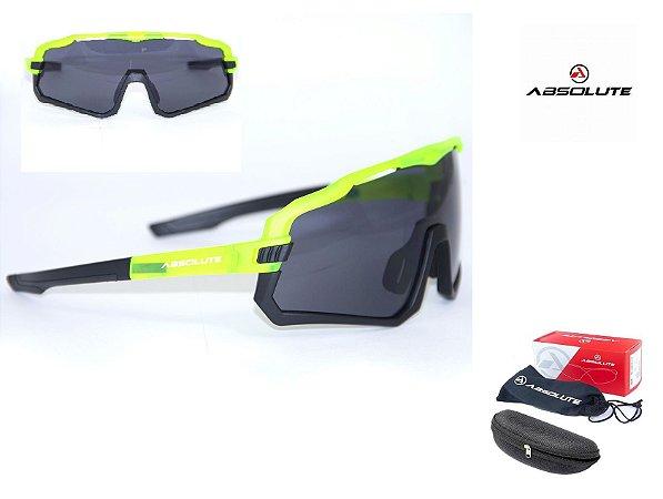 Óculos Ciclismo Bike Absolute Wild Lente Uv 400 Neon 2021