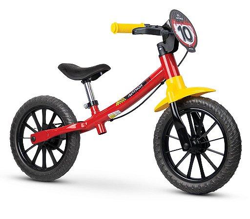 Bicicleta Infantil Sem Pedal Equilíbrio Balance Vermelha Fast