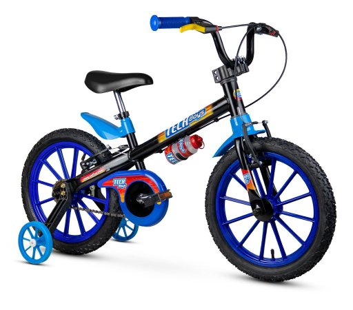 Bicicleta Aro 16 Infantil Tech Boy Azul/Pto Masculina