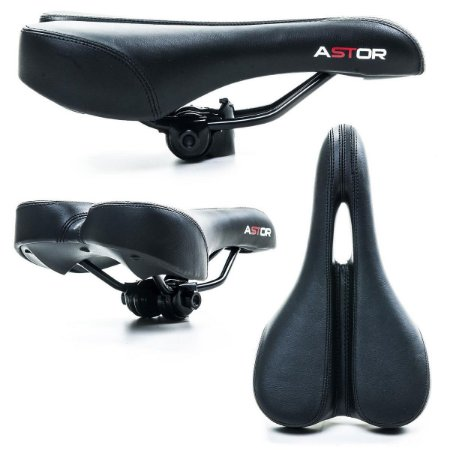 Selim Banco Bicicleta Mtb Confortável Vazado Espuma C/gel