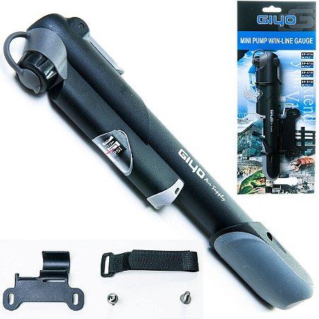 Bomba De Ar Para Bicicleta C/Manômetro Mini Pump Gp41 Nylon