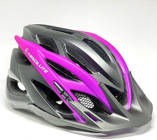 Capacete Ciclismo Absolute Feminino Luna Com Sinalizador LED 54-57cm