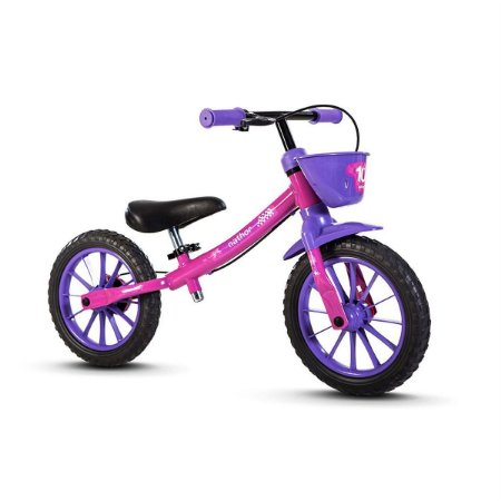 Bicicleta Infantil Sem Pedal Equilíbrio Balance Feminina Rosa