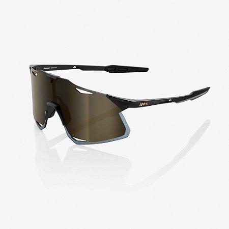 Óculos Ciclismo 100% Hypercraft - Original Preto/Dourado