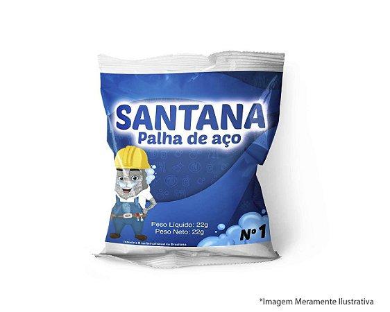 PALHA DE AÇO SANTANA N1 PACOTE COM 20 UNIDADES