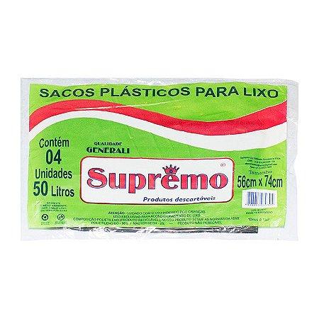 SACO DE LIXO SUPREMO 50L CAIXA COM 50 UNIDADES