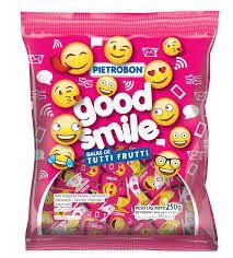 BALA GOOD SMILLE  PIETRO BOM PACOTE 60G   CAIXA COM 50 UNIDADES