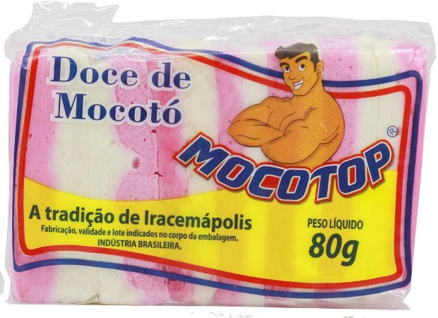 DOCE DE MOCOTO MOCOTOP 80G CX COM  50 UNIDADES