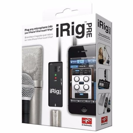 Interface de Áudio IK Multimedia iRig Pre para Microfone