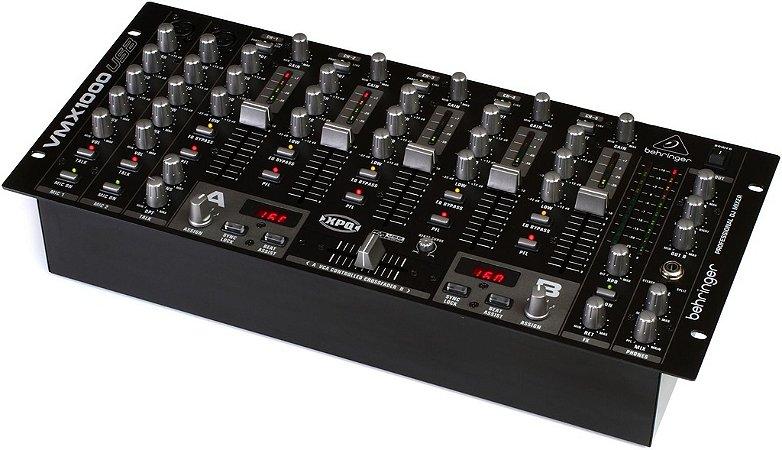 Mixer DJ Behringer Pro Mixer VMX1000 USB 5 Canais