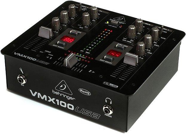 Mixer DJ Behringer Pro Mixer VMX100 USB 2 Canais