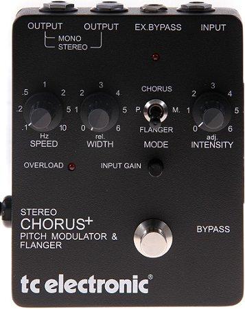 Pedal de Efeitos TC Electronic Stereo Chorus Flanger para Guitarra