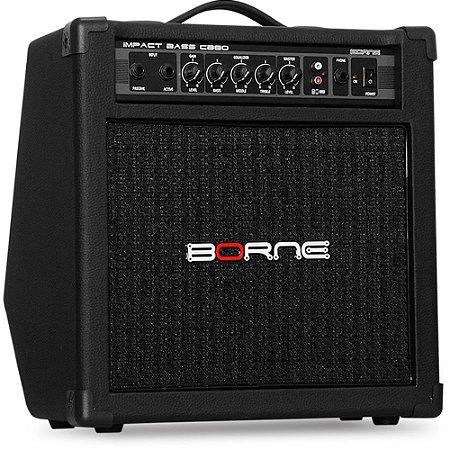 "Caixa Amplificada Borne Impact Bass CB80 1x8"" 30W"