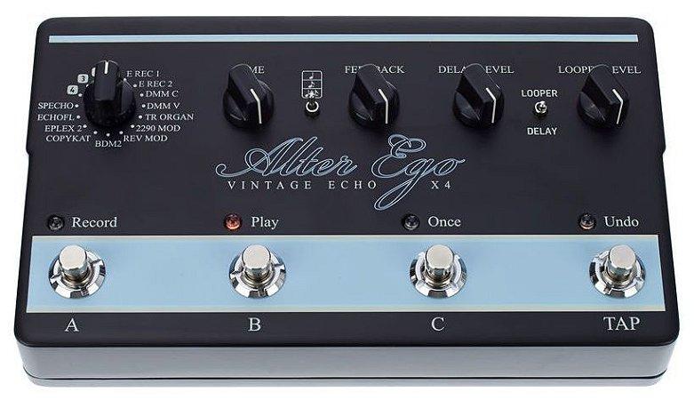 Pedal Multi Efeitos TC Electronic Alter Ego X4 Vintage Echo Delay