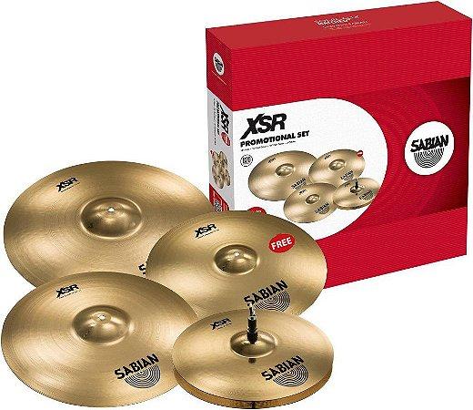 "Kit de Pratos Sabian XSR20 Promotional Set 5005BG + 18"" Free"