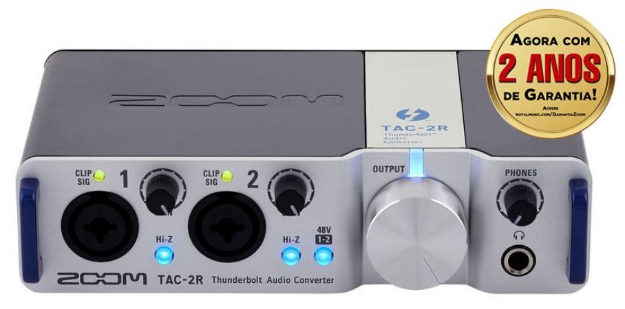 Interface de Áudio Zoom TAC-2R Thunderbolt
