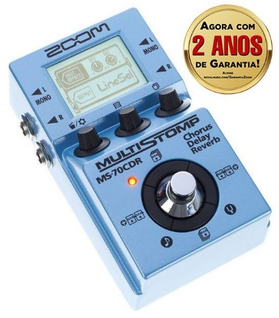 Pedal Zoom MultiStomp MS 70CDR para Guitarra