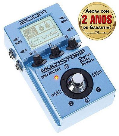 Pedal Zoom MultiStomp MS 70 CDR para Guitarra