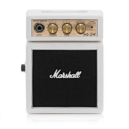 Micro Caixa Amplificada Marshall MS-2 1W White para Guitarra