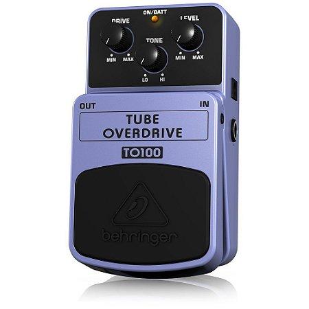Pedal de Efeitos Behringer TO100 Tube Overdriver para Guitarra