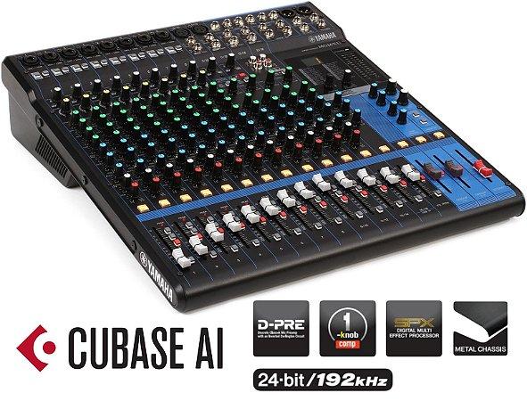 Mesa de Som Analógica Yamaha MG16XU USB 16 Canais