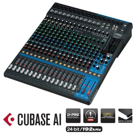 Mesa de Som Analógica Yamaha MG20XU USB 20 Canais
