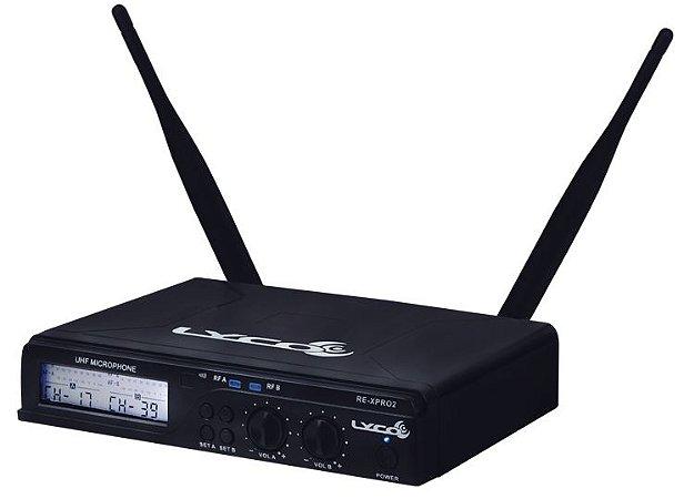 Microfone sem Fio Lyco UHXPRO-02 MM Duplo