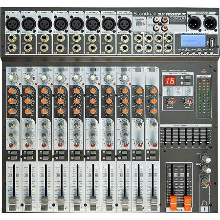 Mesa de Som Soundcraft SX1202 FX USB / MP3 12 Canais