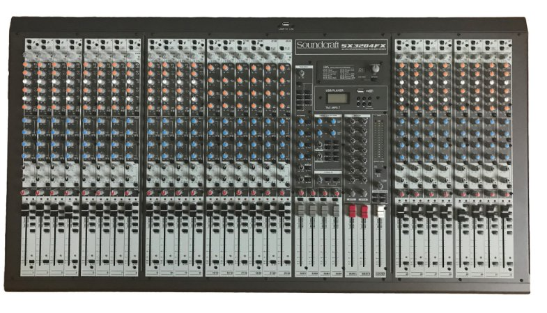 Mesa de Som Soundcraft SX3204FX USB / MP3 32 Canais Bivolt