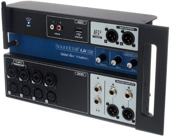 Mesa de Som Digital Soundcraft UI12 USB 12 Canais