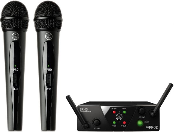 Microfone Sem Fio AKG WMS 40 Mini PRO Duplo Vocal Set
