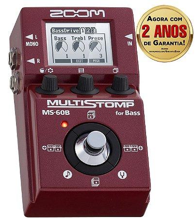 Pedal Zoom Stompbox MS 60B para Contrabaixo