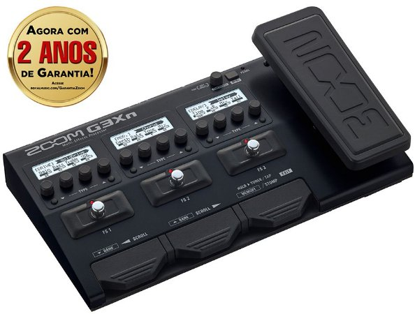 Pedaleira Zoom G3Xn Multi-Effects para Guitarra