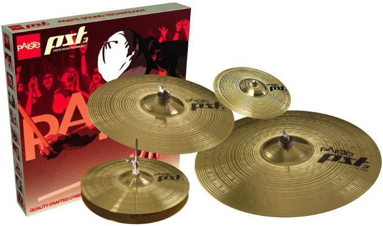"Kit de Pratos Paiste PST3 Universal Set com Splash 10"" Free"