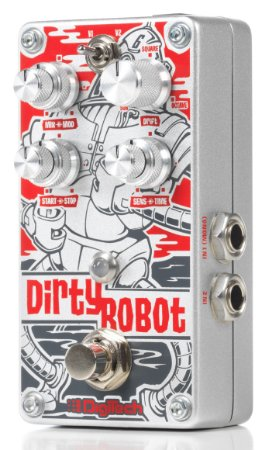 Pedal de Efeitos Digitech Dirty Robot Stereo Mini Synth para Guitarra