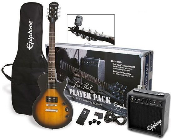 Guitarra Epiphone Les Paul Special II Kit Player Pack