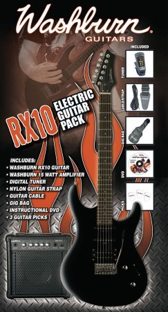 Kit Guitarra Washburn RX10 Pack RX Series Black