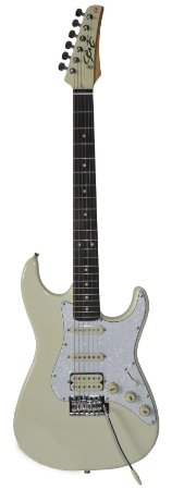 Guitarra Seizi Stone Ivory White Cream com Capa