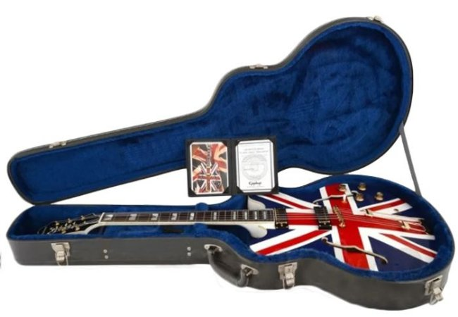 Guitarra Semi-Acústica Epiphone Sheraton Union Jack com Case