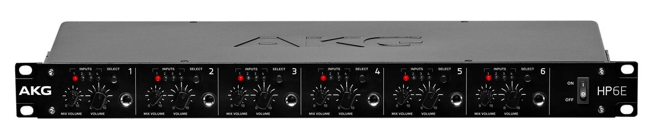 Pré Amplificador AKG HP6E 6 Canais para Fone de Ouvido