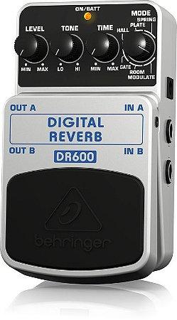 Pedal de Efeitos Behringer DR600 Digital Reverb para Guitarra